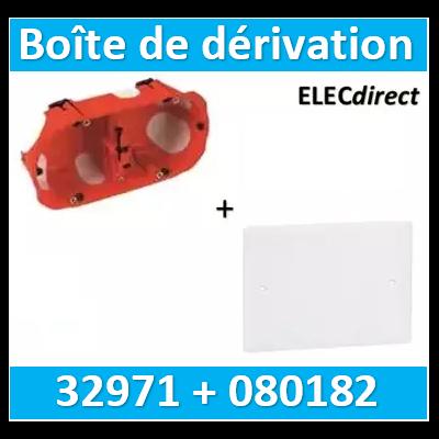 SIB - Boîte double BBC + Couvercle universel 155 x 85 = boîte de dérivation - 32971 + 080182