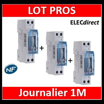 Legrand - Interrupteur horaire journalier analogique avec réserve de marche - 412790x3