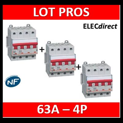 Legrand - DX3 Interrupteur-sectionneur à déclenchement Tétrapolaire - 63A - 406544x3