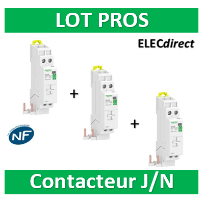 Schneider - Contacteur RESI9 CT J/N heures creuses Bipolaire - 2F - 20A - R9PCTH20x3