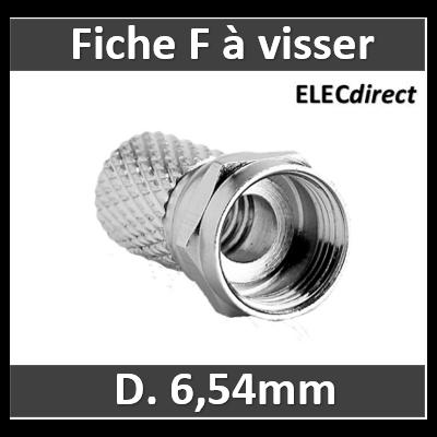 """Cahors - Fiche F - TV - """"Mâle"""" à visser - D. 6.54mm - 0914287"""