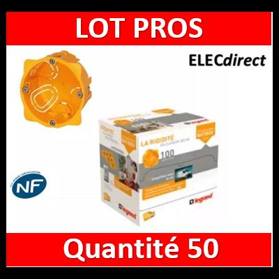 Legrand Batibox - LOT PROS - Boîte d'encastrement 1 poste - Prof. 40 - 080041 x50