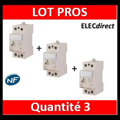 Legrand - Contacteur de puissance bipolaire bobine 230V - 40A - 2F - 2M - 412545x3