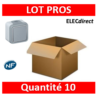 Legrand Plexo - Bouton poussoir 10A - 230V - IP55/IK07 - 069720x10