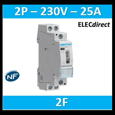 Hager - Contacteur 25A - 2F - 230V - ERC225