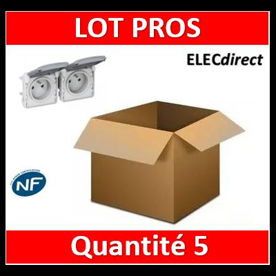 Legrand Plexo - Double PC précâblées - horizontal - 16A - 230V - IP55/IK07 - 069562x5