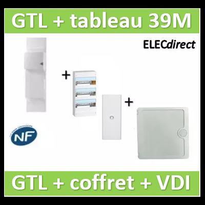 Rehau - GTL 13M + tableau 39M + VDI 4RJ45 Casanova - 733808+401213+401333+CTRIETG14X4+CASPCT250