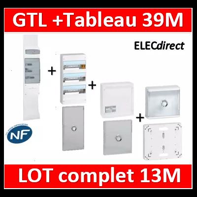 Legrand - GTL 13 + tableau 39M + VDI 8RJ45 + platine + porte transparente