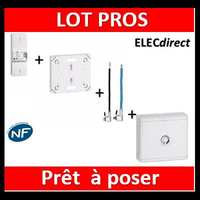 Legrand - Disjoncteur EDF 15/45A sélectif + platine + embouts PH+N 60A - 401003+401191+embouts+401185