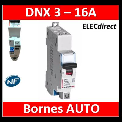DISJONCTEUR LEGRAND DNX3 PH/N 16A - AUTO/AUTO - 406783