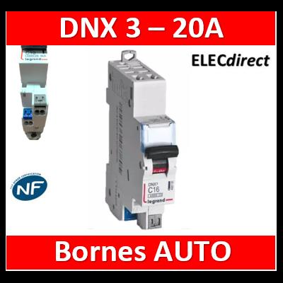 DISJONCTEUR LEGRAND DNX3 PH/N 20A - AUTO/AUTO - 406784