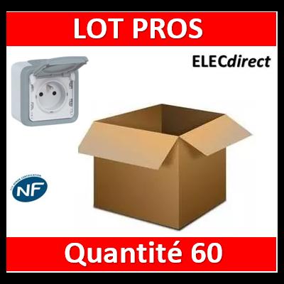 Legrand Plexo - LOT PROS - Prise de courant 2P+T 16A 230V - IP55/IK07 - 069731x60