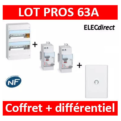 Legrand - LOT - largeur 355mm - 401222+411650+411651+401232