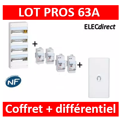 Legrand - LOT - largeur 355mm - 401224+411650x3+411651+401234