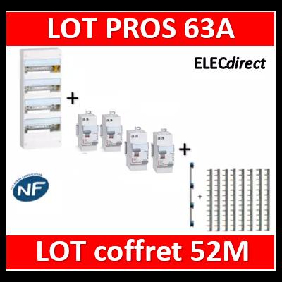 Legrand - Lot PROS - largeur 250mm - tableau 52M DRIVIA - 401214+411650x3+411651+405002+404926x8