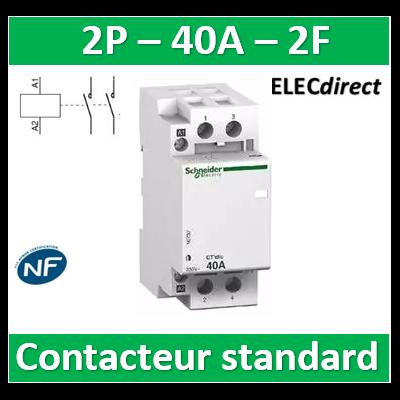 Schneider - Contacteur standard Bipolaire - 2F - 40A - A9C20842