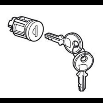 Barillet à clé type405 pour porte métal ou vitrée XL³800 , XL³400 et XL³160 avec 1 jeu de 2 clés - 020291