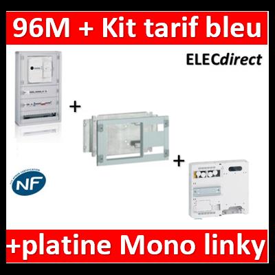 Legrand - Coffret 96 modules - avec espace dédié - XL3 160 + kit tarif bleu + platine Mono - 401816+020230+401181
