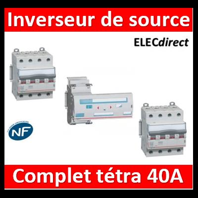 Legrand - Inverseur de sources manuel tetra 4P 40A complet - 406316+406480x2