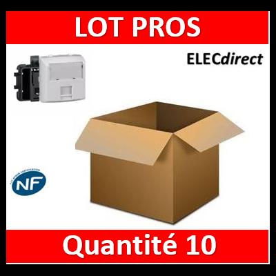 Legrand Oteo - Prise RJ45 Cat. 6 FTP appareillage saillie composable - blanc - 086147x10