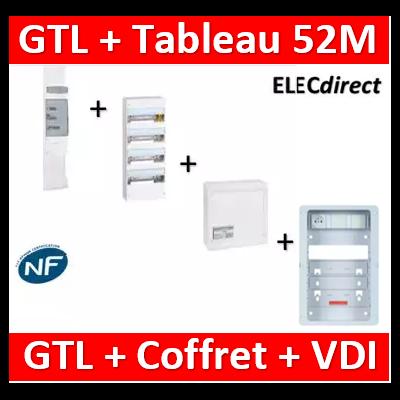 Legrand - Kit GTL 13M complet + tableau 52M + VDI 4RJ45 - 030037+401214+413248+ZA375C
