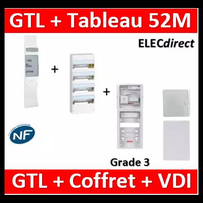 Legrand - Kit GTL 13M complet + tableau 52M + VDI 8RJ45 casanova - 030037+401214+CST625G3CUC