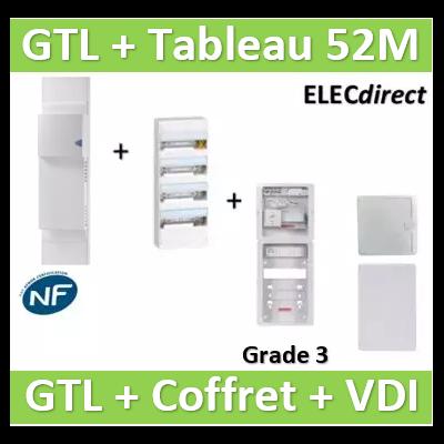 Rehau - GTL 13M + tableau 52M + VDI 8RJ45 Casanova +porte Grade 3 - 733808+401214+CST625G3CUC-SLD+CASPCT250+PCTS375