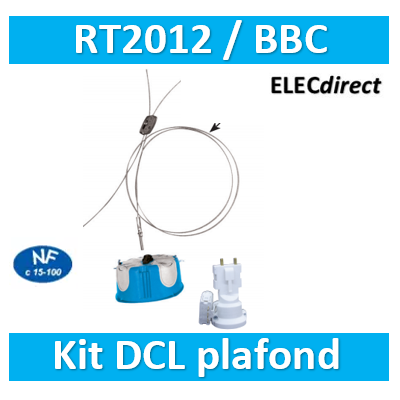 SIB - Kit Point de centre DCL BBC (plafond) + Filin 35kg - 36860