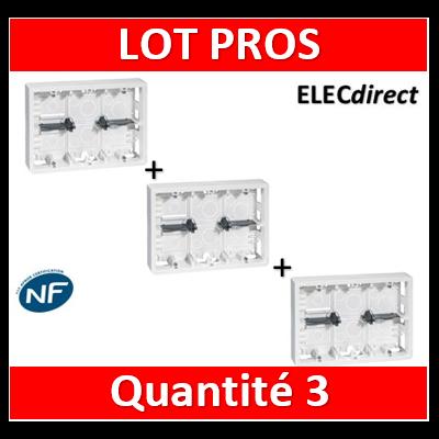 Legrand - Cadre Prog Mosaic - pour support réf. 802 66 - prof 46 mm- 2x6/2x8/2x3x2 modules - 080276x3