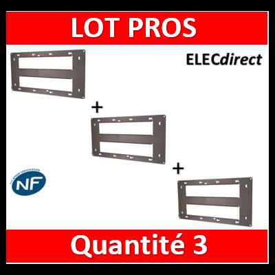 Legrand - Support 2x10 Modules - Mosaic - Fixation VIS - 080268x3