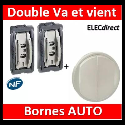 Legrand Céliane - Double va et vient +  Enjoliveur double allumage Titane - 068302+067001x2