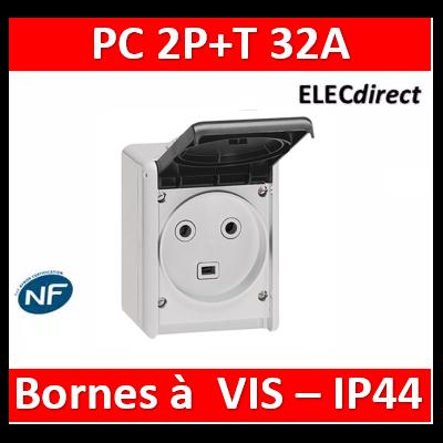 Legrand Plexo - Prise de courant 2P+T 32A - saillie - IP44/IK08 - 055872
