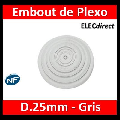 Legrand - Embout de rechange Legrand Plexo gris - jusqu'à Ø25 - 091915