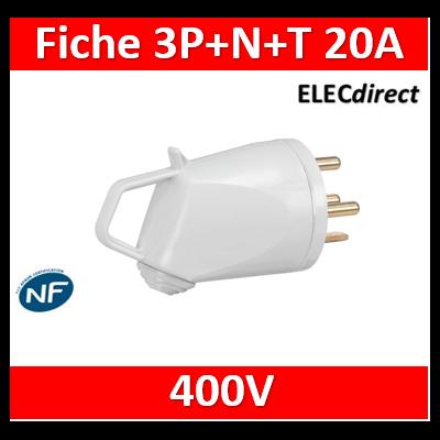 Legrand - Fiche 3P+N+T 20A 400V~ - Ivoire - 055637