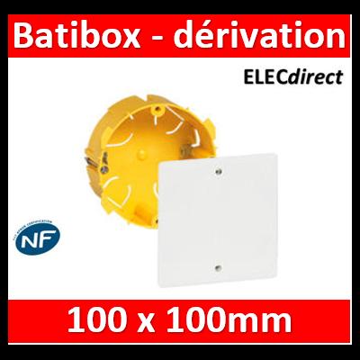 Legrand Batibox - Boîte pour dérivation Batibox cloisons sèches Ø85x40mm couvercle 100x100mm - 089371
