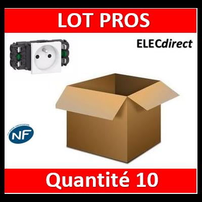 Legrand - Prise de courant 2P+T Mosaic 2 modules pour goulottes DLP monobloc - blanc - 077301x10