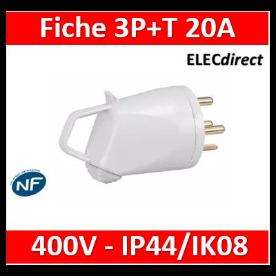 Legrand - Fiche 3P+T 20A 400V~ - Ivoire - 055635