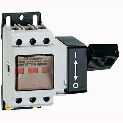 Interrupteur-sectionneur Vistop 32A - 2P avec commande frontale et poignée noire - 022498