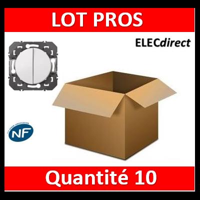 Legrand - Double interrupteur ou va-et-vient dooxie 10AX 250V~ finition blanc - 600002x10