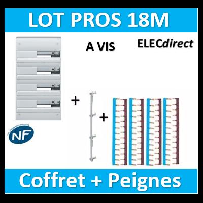 Hager - Coffret GAMMA 72 Modules - 4R de 18M + peigne V/H - GD418A+KCN425+KB163Px4+KB163Nx4