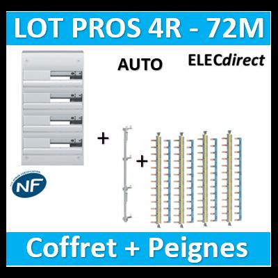 Hager - Coffret GAMMA 72 Modules - 4R de 18M + peigne V/H AUTO - GD418A+KCN425+KBS763Gx4