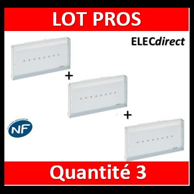 Legrand - BAES d'évacuation ECO1 standard à LEDs 45lm-1h plastique IP43-IK07 SATI Autodiag - 062525x3