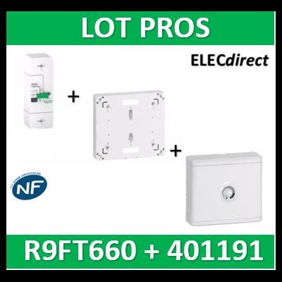 Disjoncteur de branchement EDF 60A instantané + Platine Legrand - 500mA - bipolaire - R9FT660+401191+401185