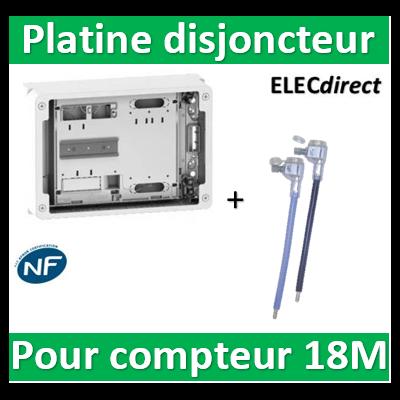 Schneider - Platine pour Disjoncteur branchement + compteur - Mono - 18M - prof. 108mm - R9H18416