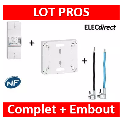 Legrand - Disjoncteur EDF 60/90A instantané + platine + embouts 90A PH+N - 401002+401191+embouts