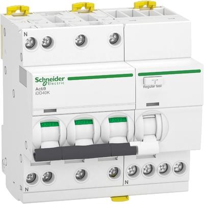 Schneider - Acti9 iDD40K - disjoncteur différentiel - 3P+N C 16A 4500A/4,5A 30mA type AC - A9DK1716