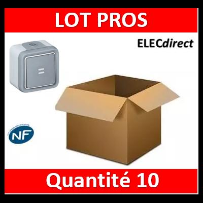 Legrand Plexo - Bouton poussoir lumineux 10A - 230V - IP55/IK07 - 069722x10