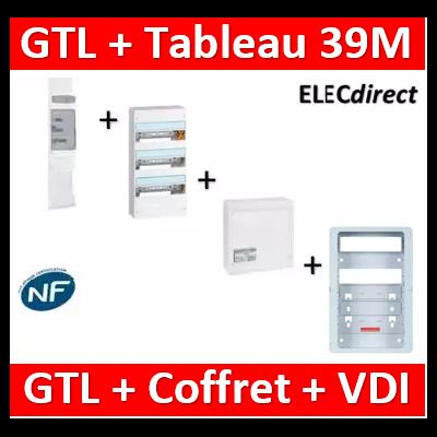 Legrand - Kit GTL 13M complet + tableau 39M + VDI 4RJ45 - 030037+401213+413248+ZA375C