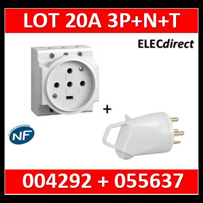 Legrand - PC 3P+N+T - 20A 400V à Eclips Modulaire + fiche - 004292+055637