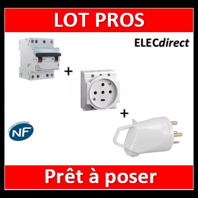 Legrand - PC 3P+N+T - 20A 400V à Eclips Modulaire + fiche + Disjocnteur 4P 20A HX3 - 004292+055637+406911